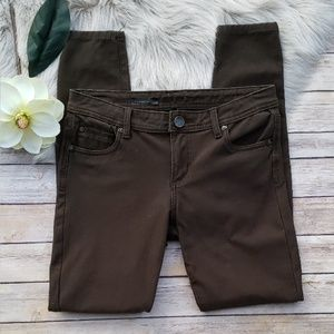 Kut from the Kloth Brown Toothpick Skinny Jeans